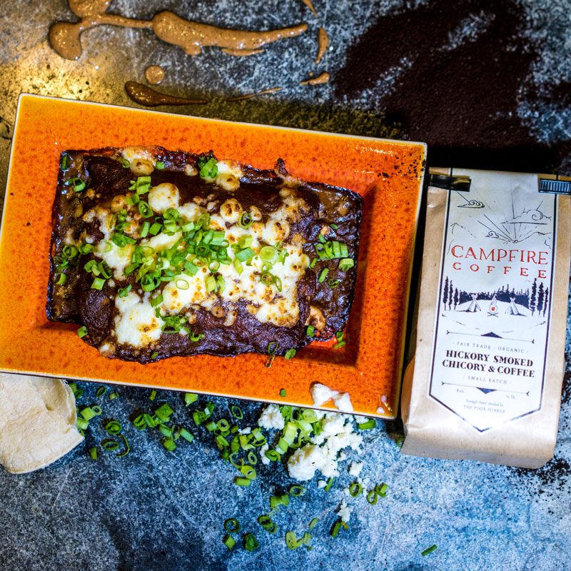 Campfire Coffee Mole + Chicken Enchiladas