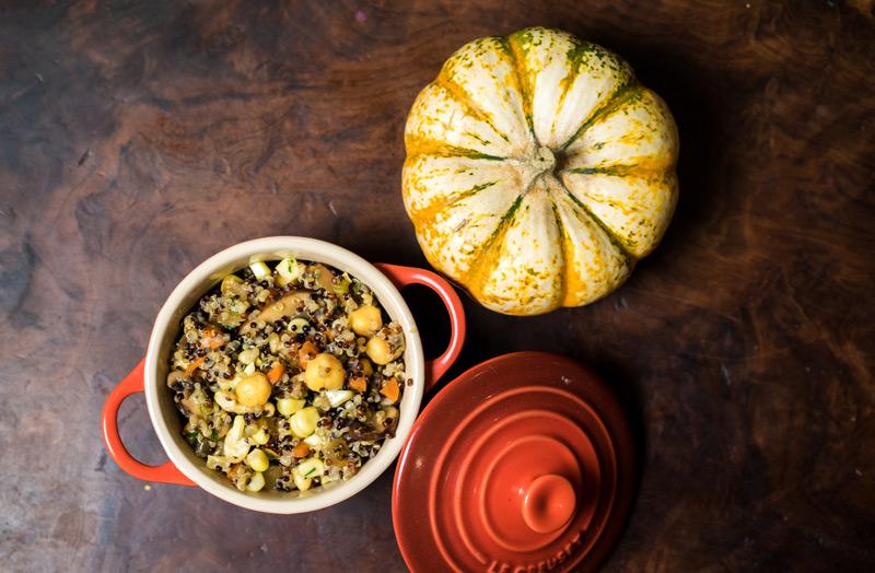 Garbanzo-Quinoa Stuffing