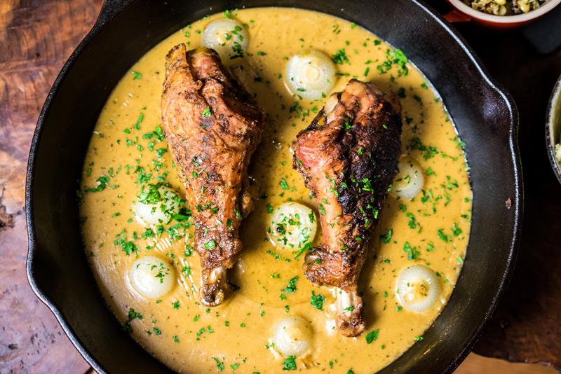 Gravy Braised Turkey Legs