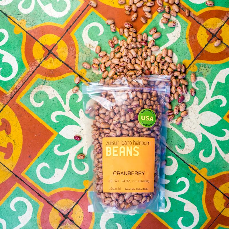 Zursun Idaho Heirloom Beans   Hierloom Cranberry Beans