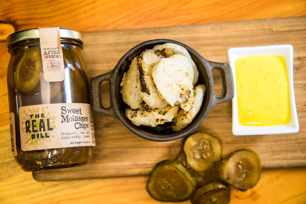 Fried Pickle Chips | Fennel Pollen | Aioli