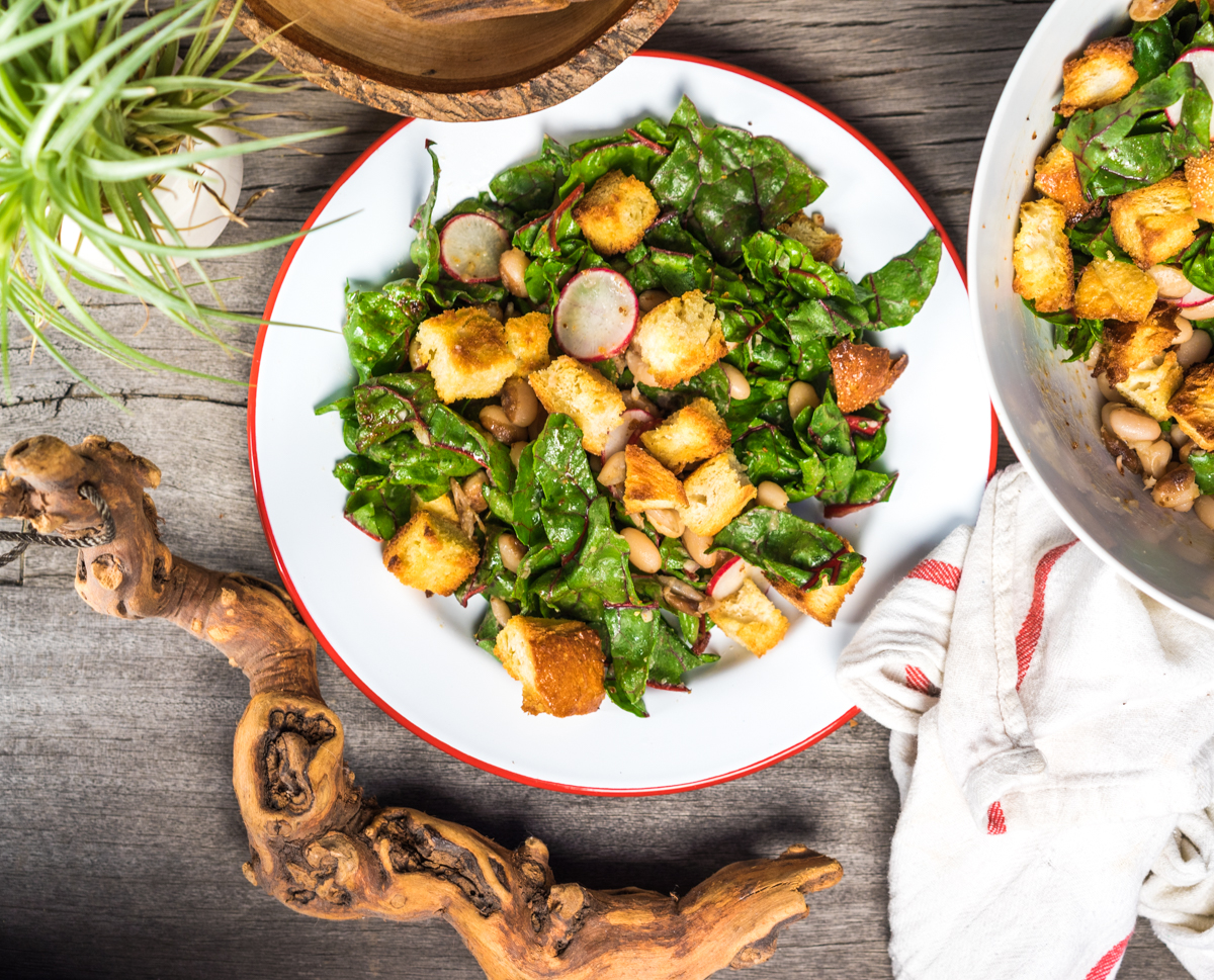 YELLOW EYE BEAN + SWISS CHARD PANZANELLA | Rancho Gordo