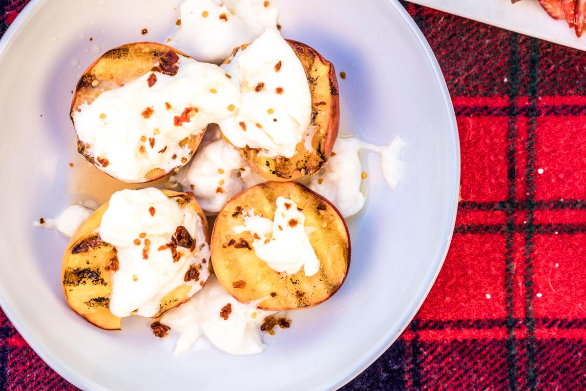 Grilled Peaches | Burrata | Chili-Peach Vinaigrette