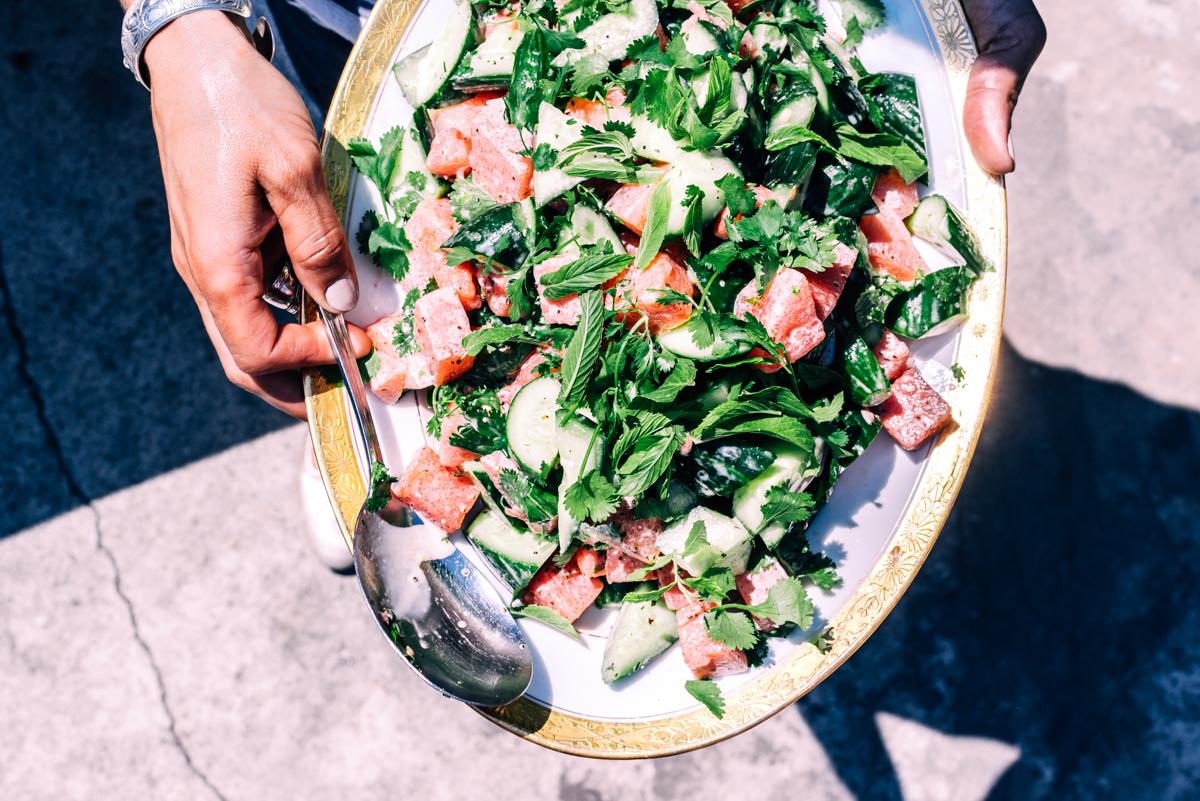 Tehachapi Grain Project BBQ | Watermelon Salad
