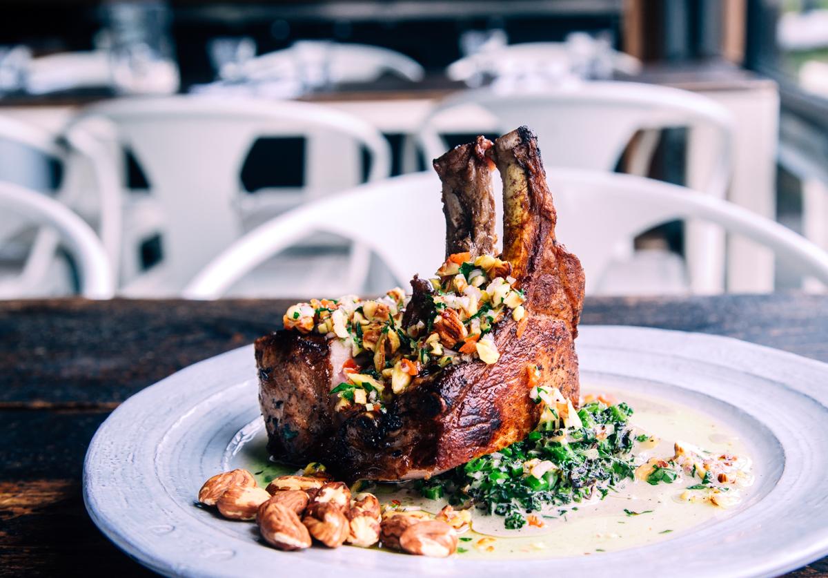 Recipe: Pork Chop | Creamed Broccolini | Hazlenut Gremolata