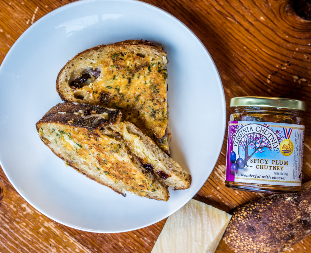 Grilled Cheese   Virginia's Spicy Plum Chutney