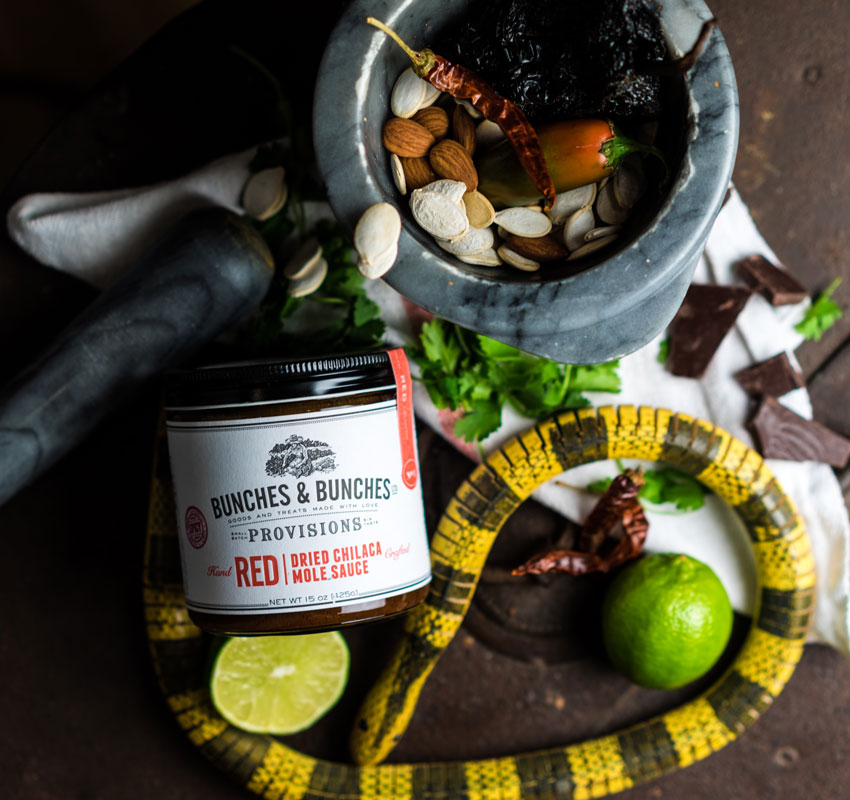 Bunches & Bunches Provisions | Red Dried Chilaca Mole Sauce