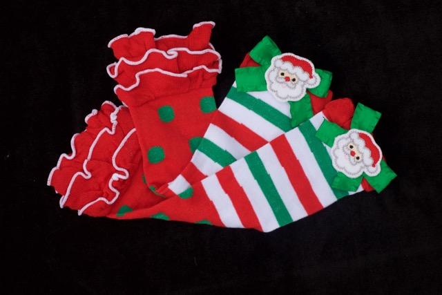 Santa Stripe Leg Warmers
