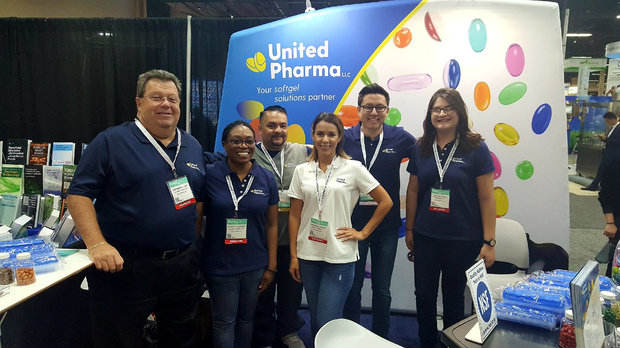 The UP crew at our booth JJ175.