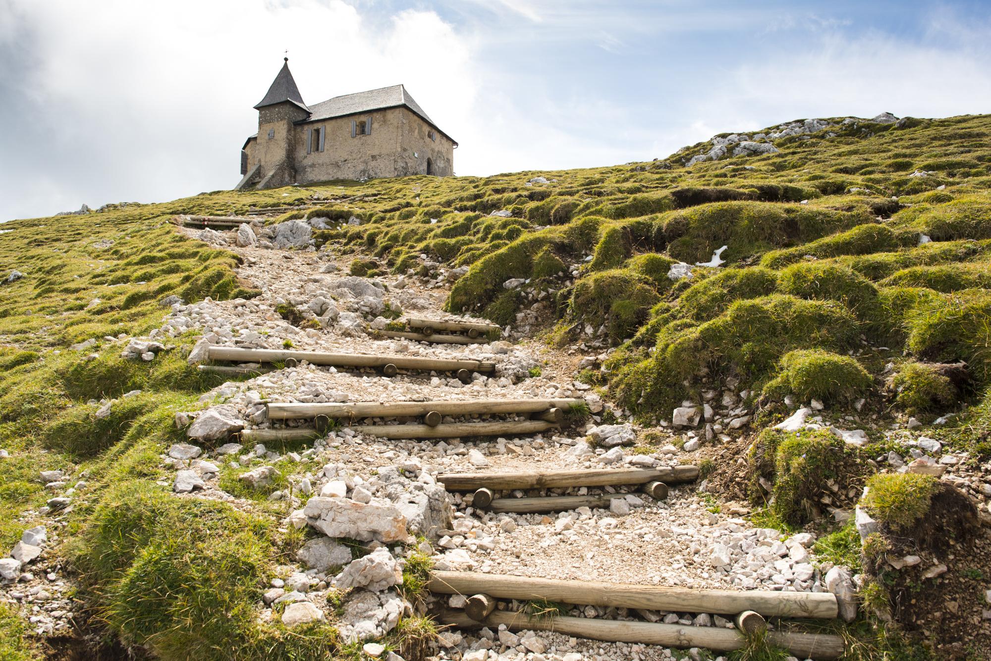 Church on top of the Dobrach