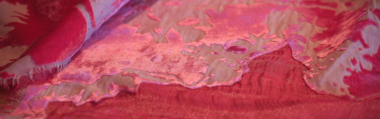 Devore on silk velvet and Orkney silk