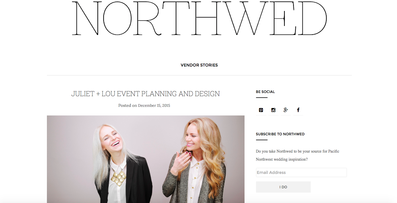 We honored to be a featured vendor in Northwed magazine this past December, Read the interview at Northwedmagazine.com. Photography by Morgan Taylor Keeney