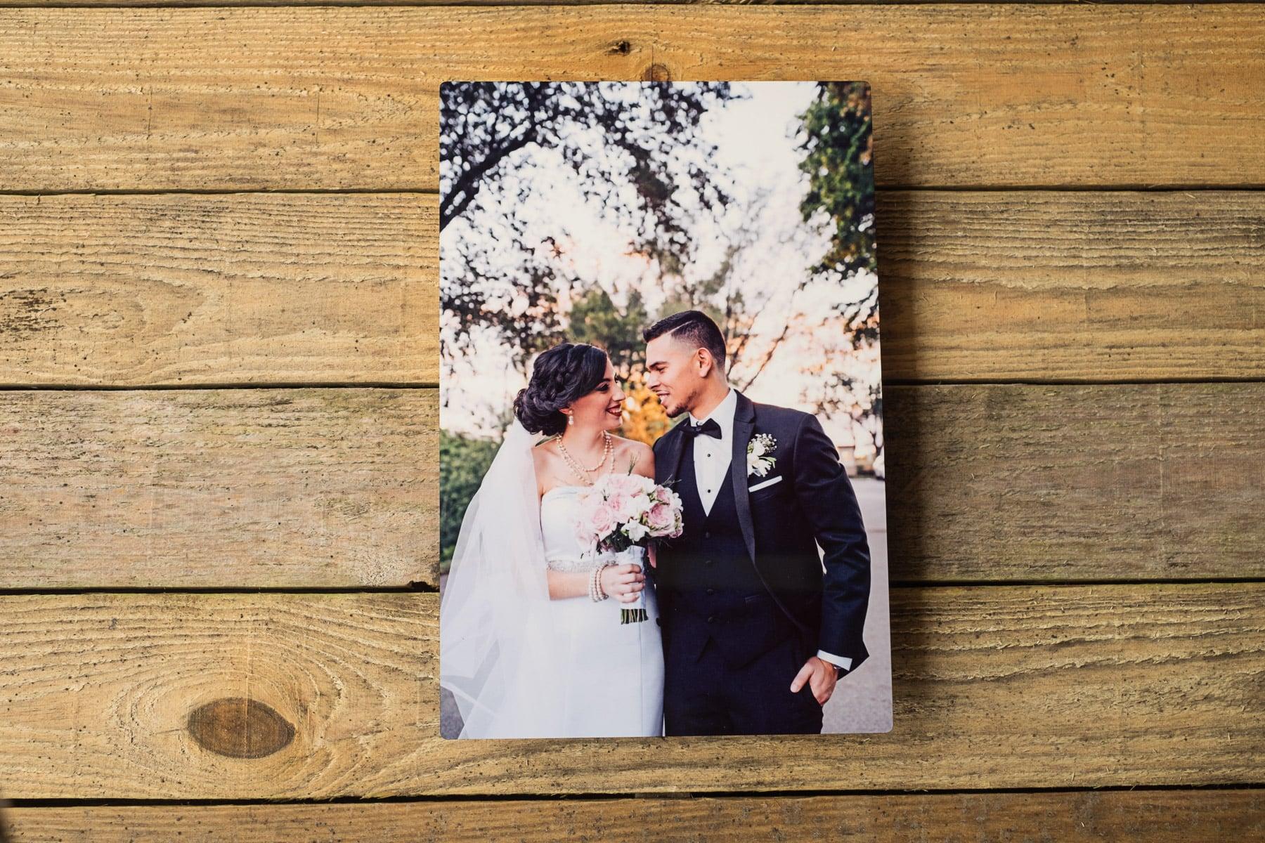 Young Miami Bride-husband-weddings-miami-metal print