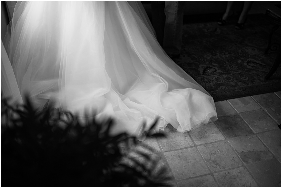 wedding detail of the brides dress
