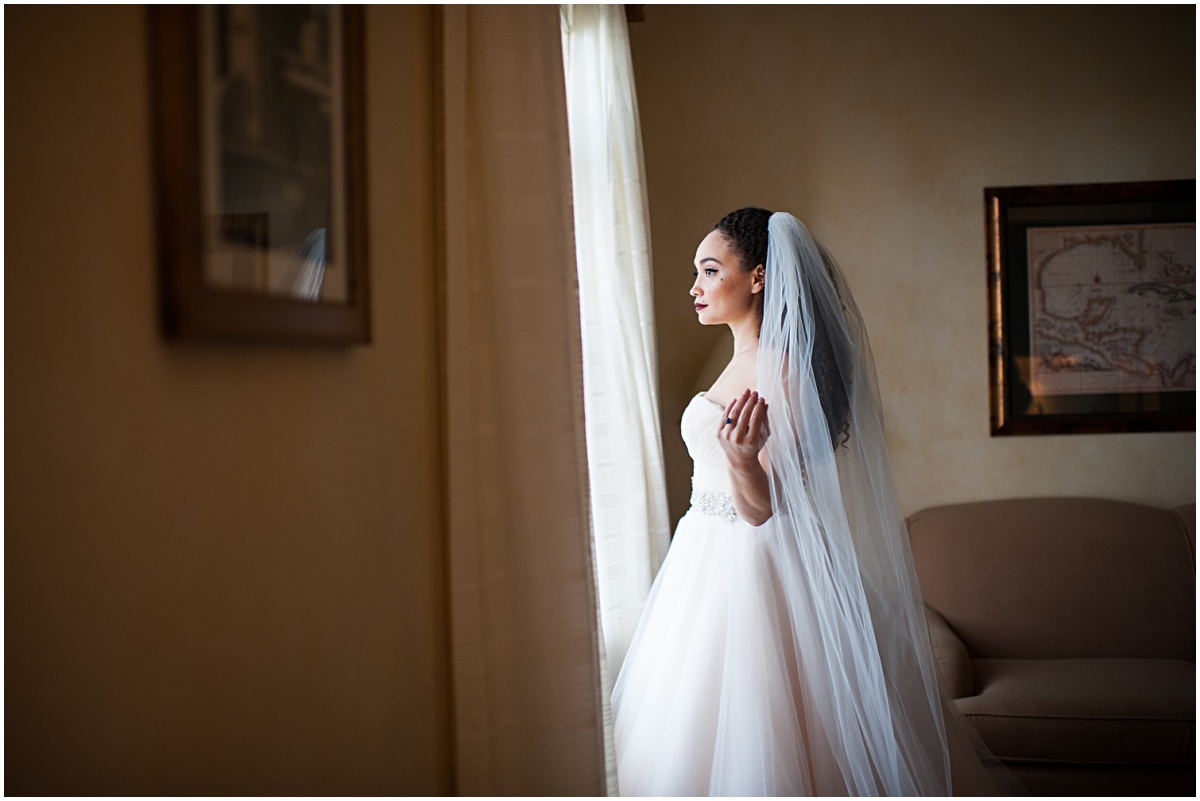 portrait of the bride at the biltmore hotel