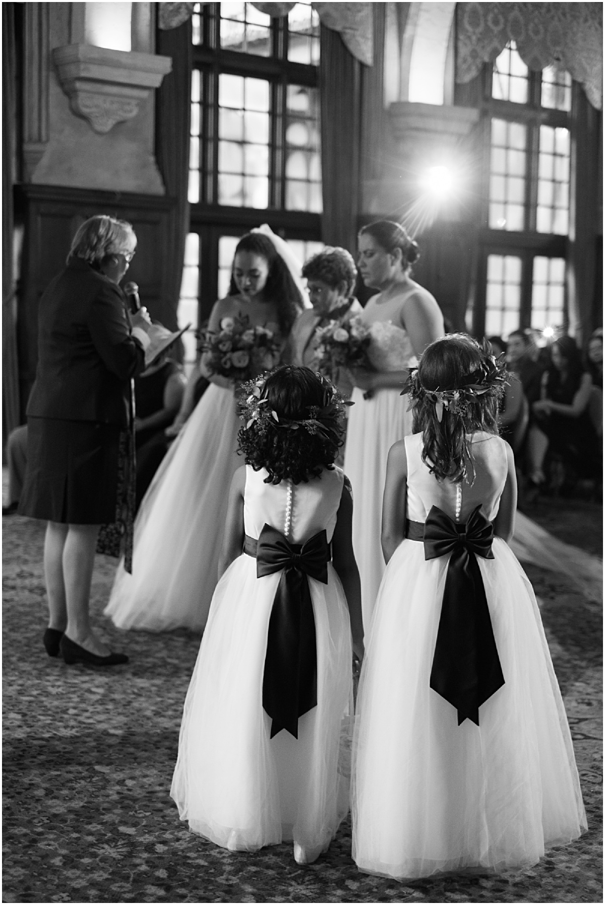 flowers girls at the same sex marriage ceremony