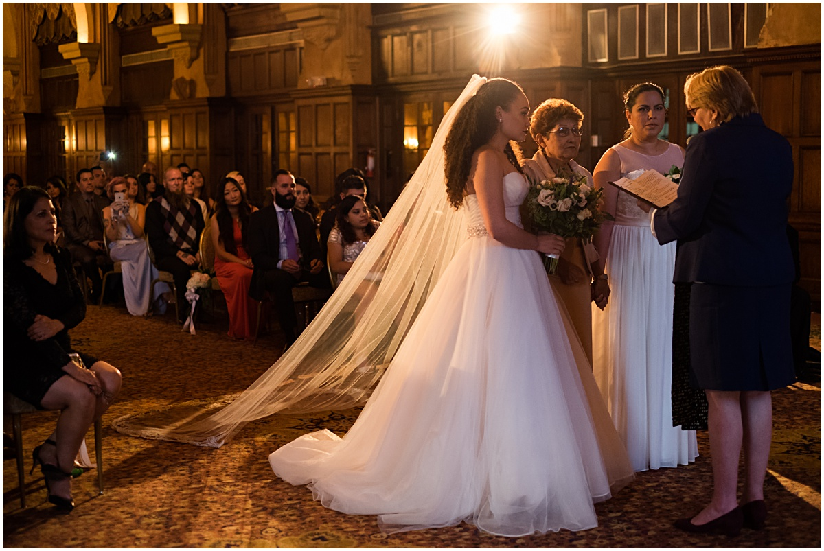 ceremony photograph of same sex couple at the biltmore hotel
