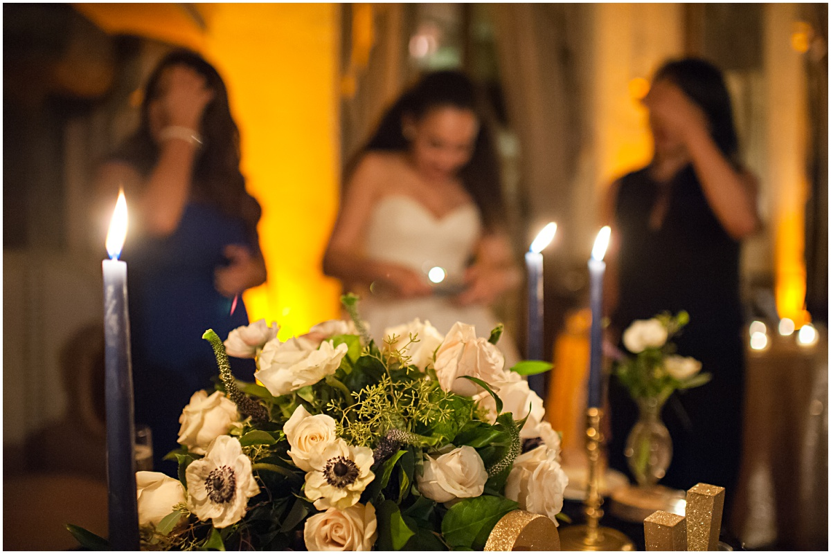 elegant flower details at the biltmore hotel wedding reception