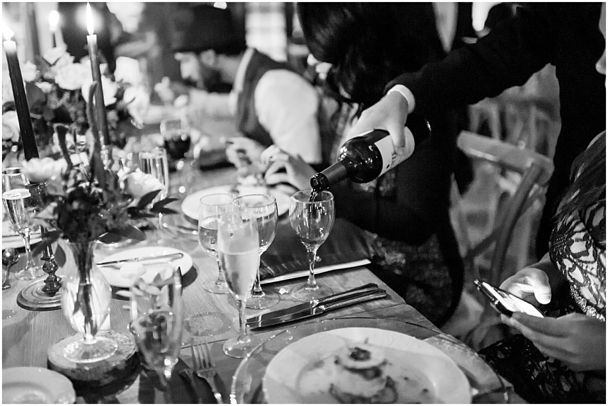 waiter pouring toast
