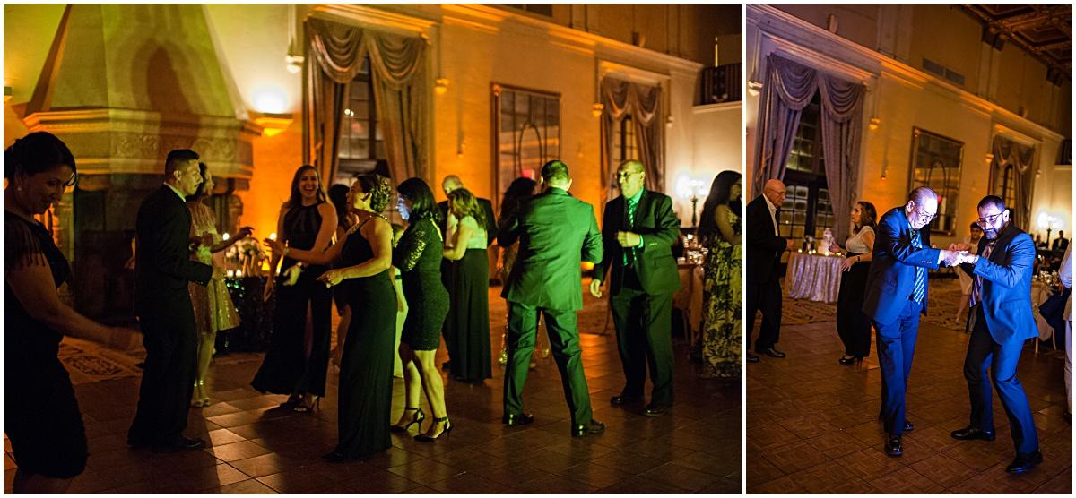 guest dancing at biltmore hotel wedding reception