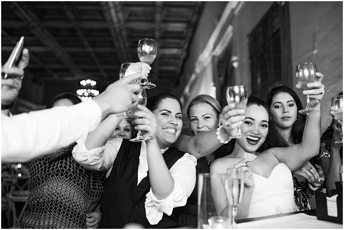 fun tequila bar shots at biltmore wedding reception
