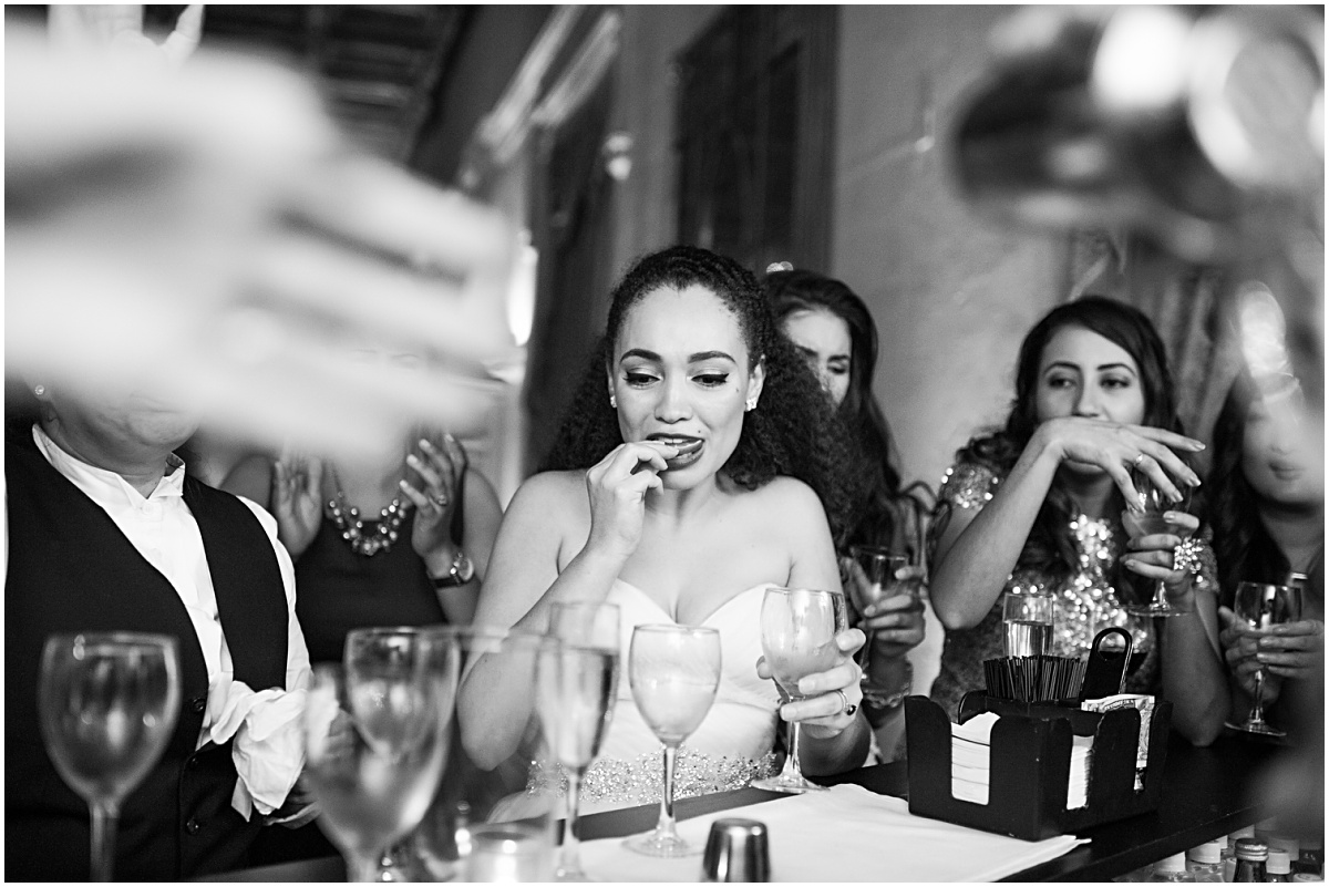 tequila bar shots at biltmore wedding reception
