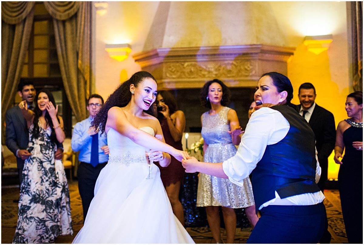same sex couple dancing at wedding reception at the biltmore hotel