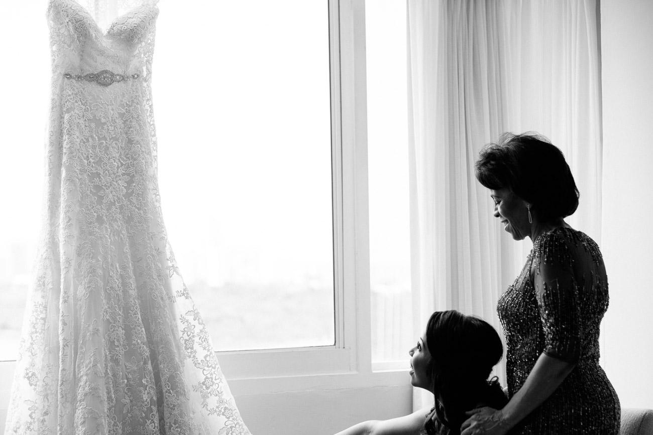 mother bride wedding dress