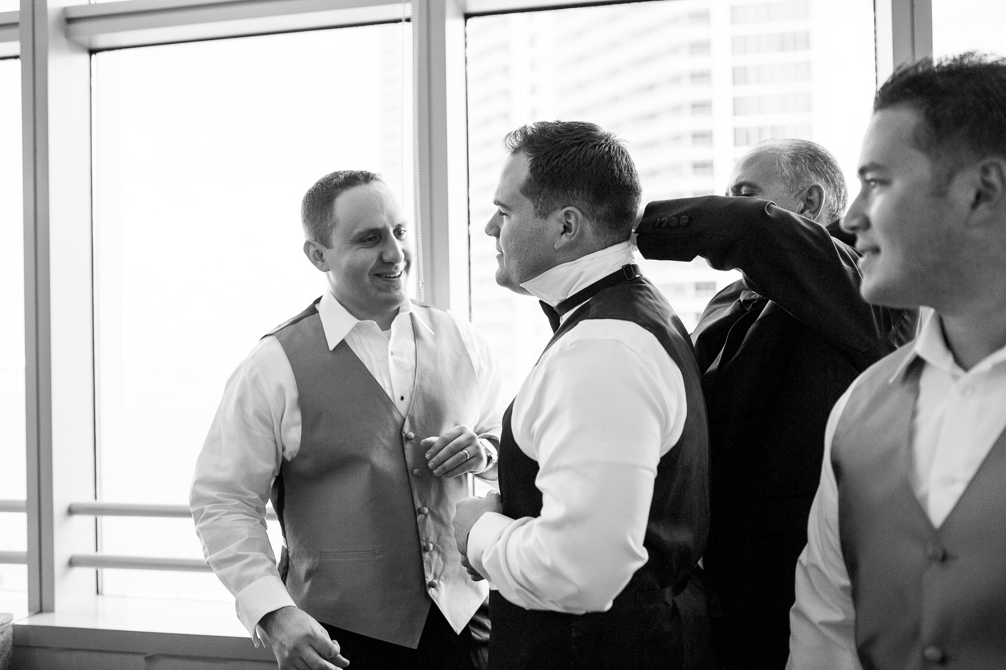 groom getting ready candid photo miami conrad hotel