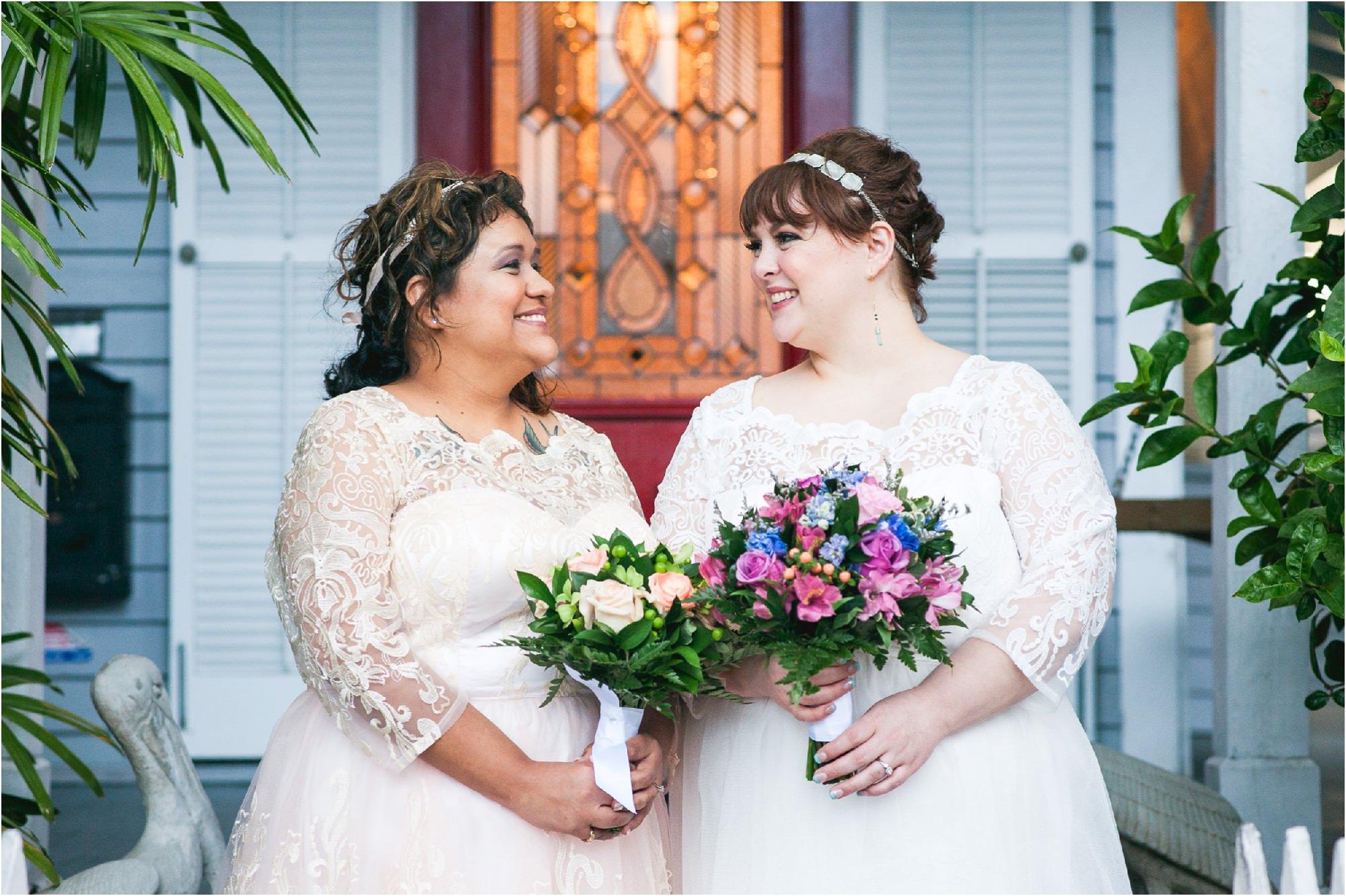 Key west florida-lesbian-wedding-getting ready