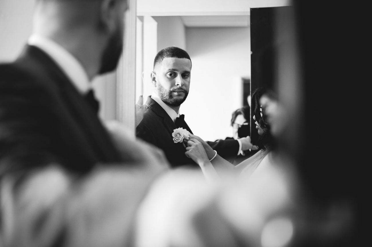 Miami groom getting ready