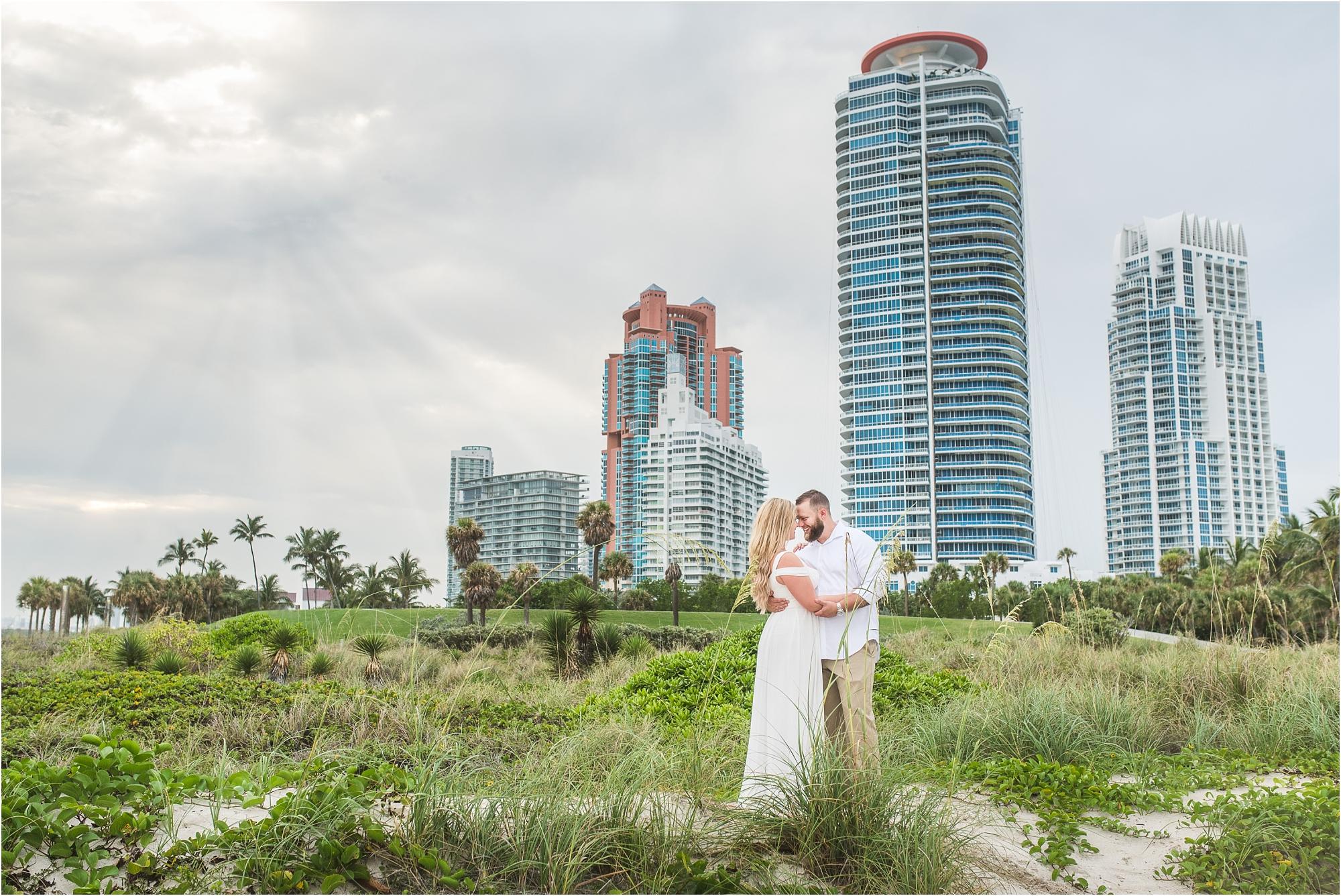 Miami Skyline Couples Portrait