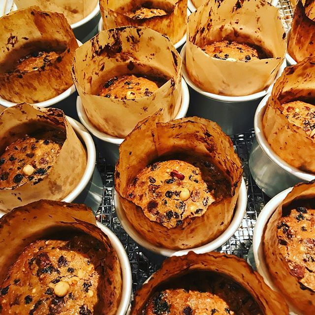 Fruitcakes right out of the oven.@robinskitchenview.com#robinskitchenview #organicfruitcake#fruitcake