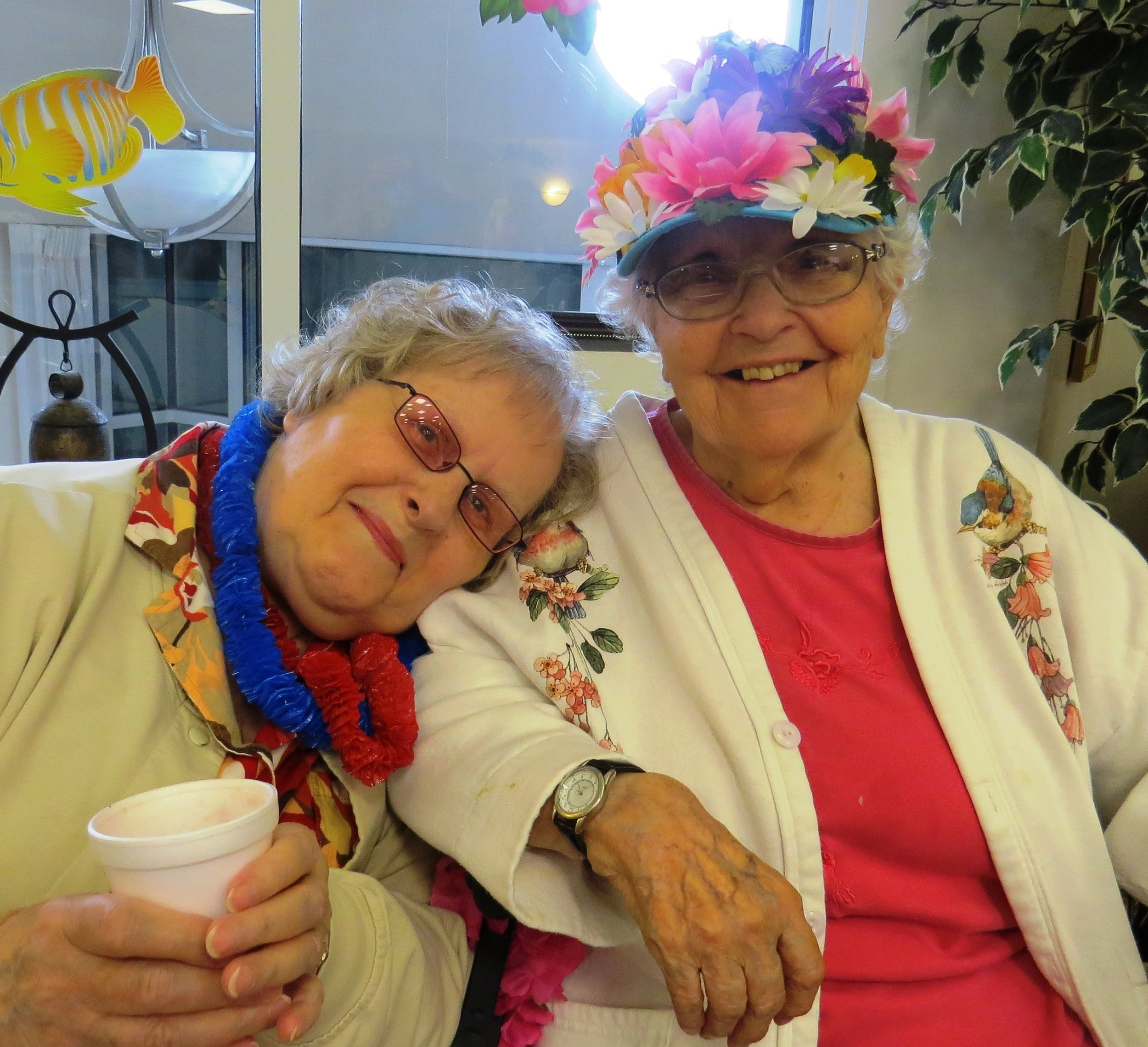 Peggy_Abramson_and_Sally_MacLean_--_Luau_Day.jpg