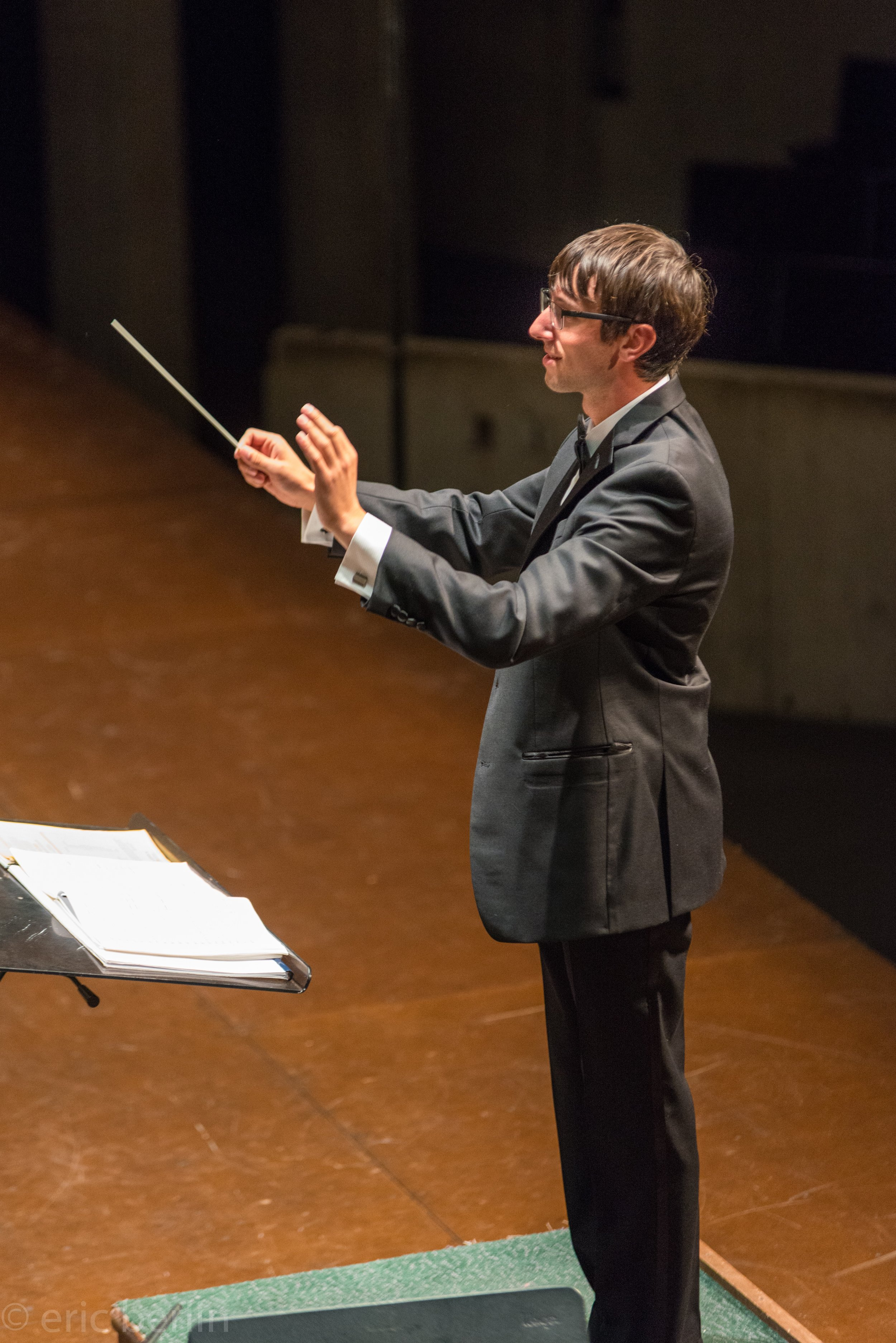 Jared Bloch ('19), graduate conductor