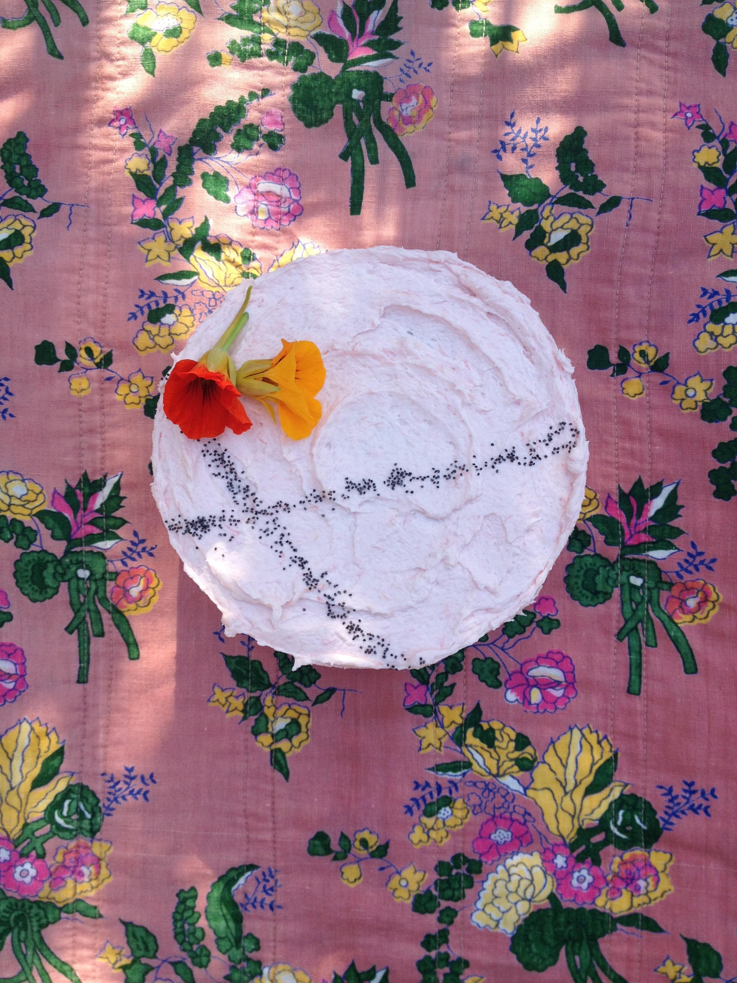 Rhubarb Cake for April