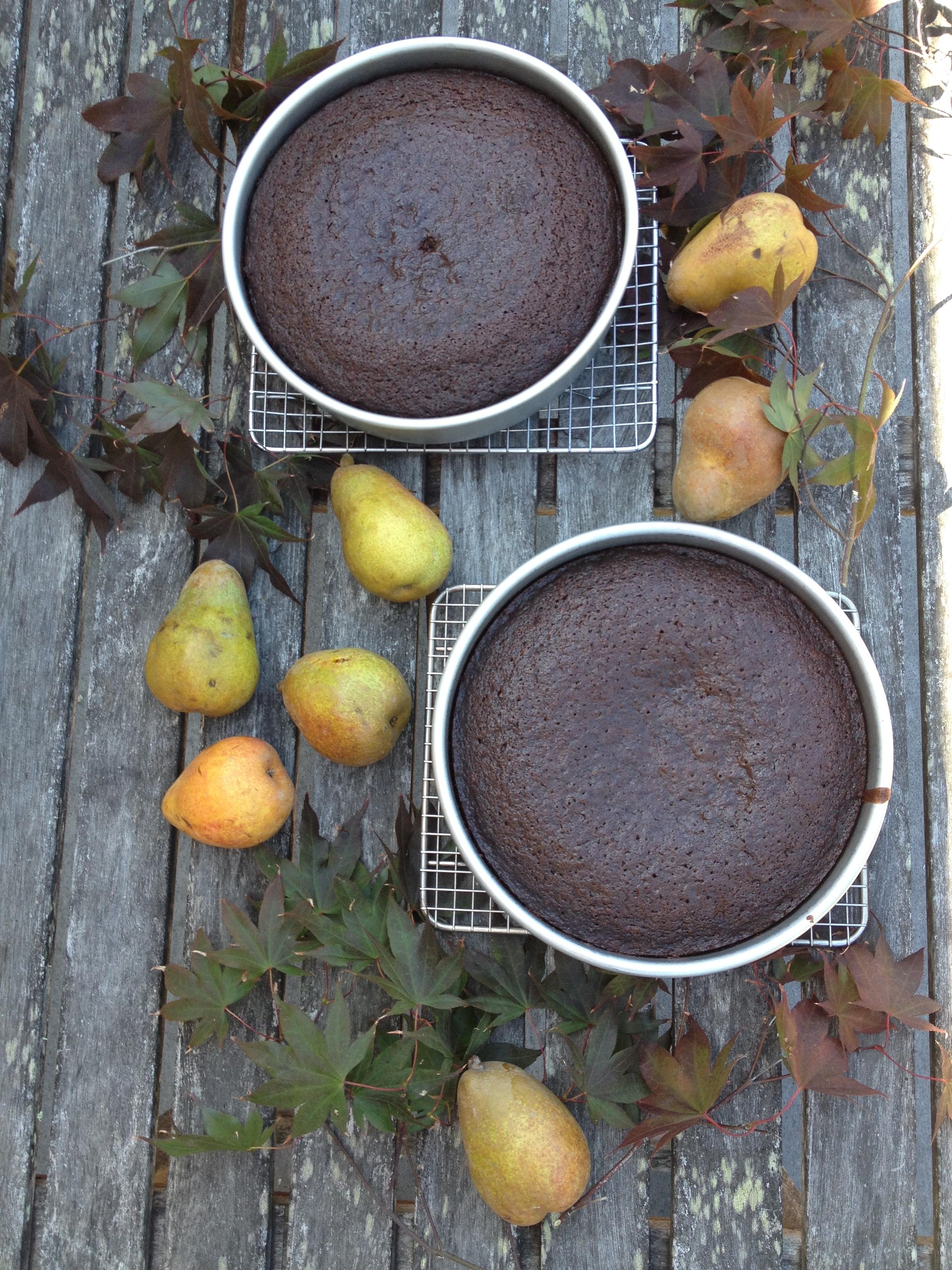 Fresh Ginger+Pear Cake for October Cake Club