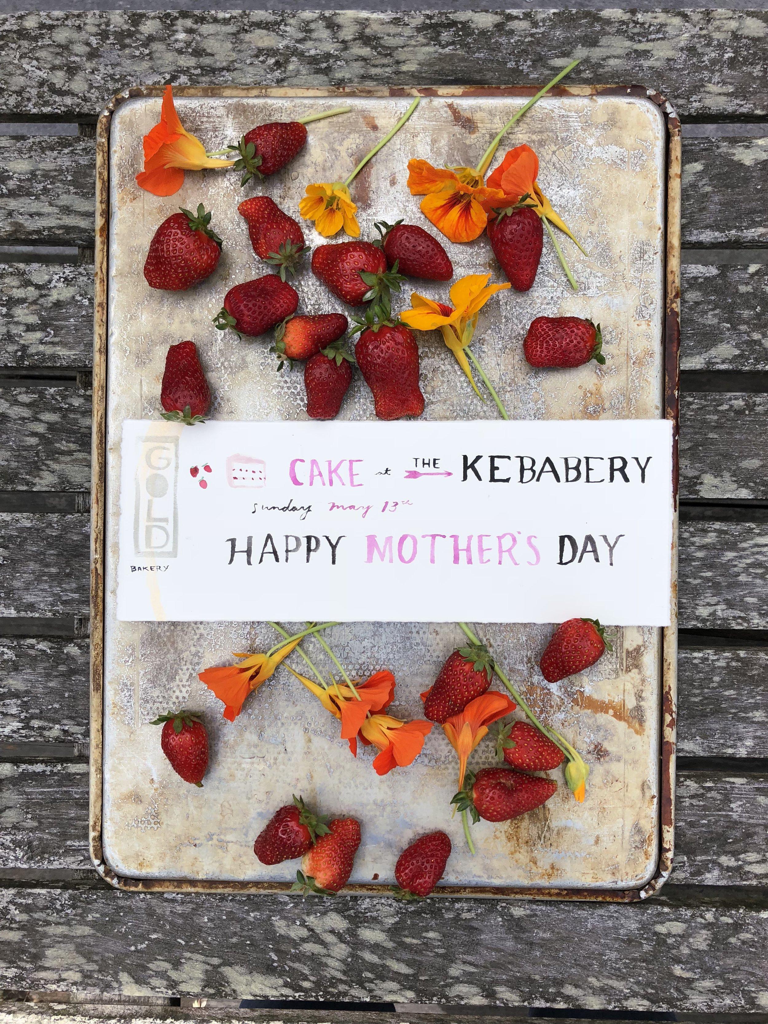 Cake+Kebabs at The Kebabery May 13th!
