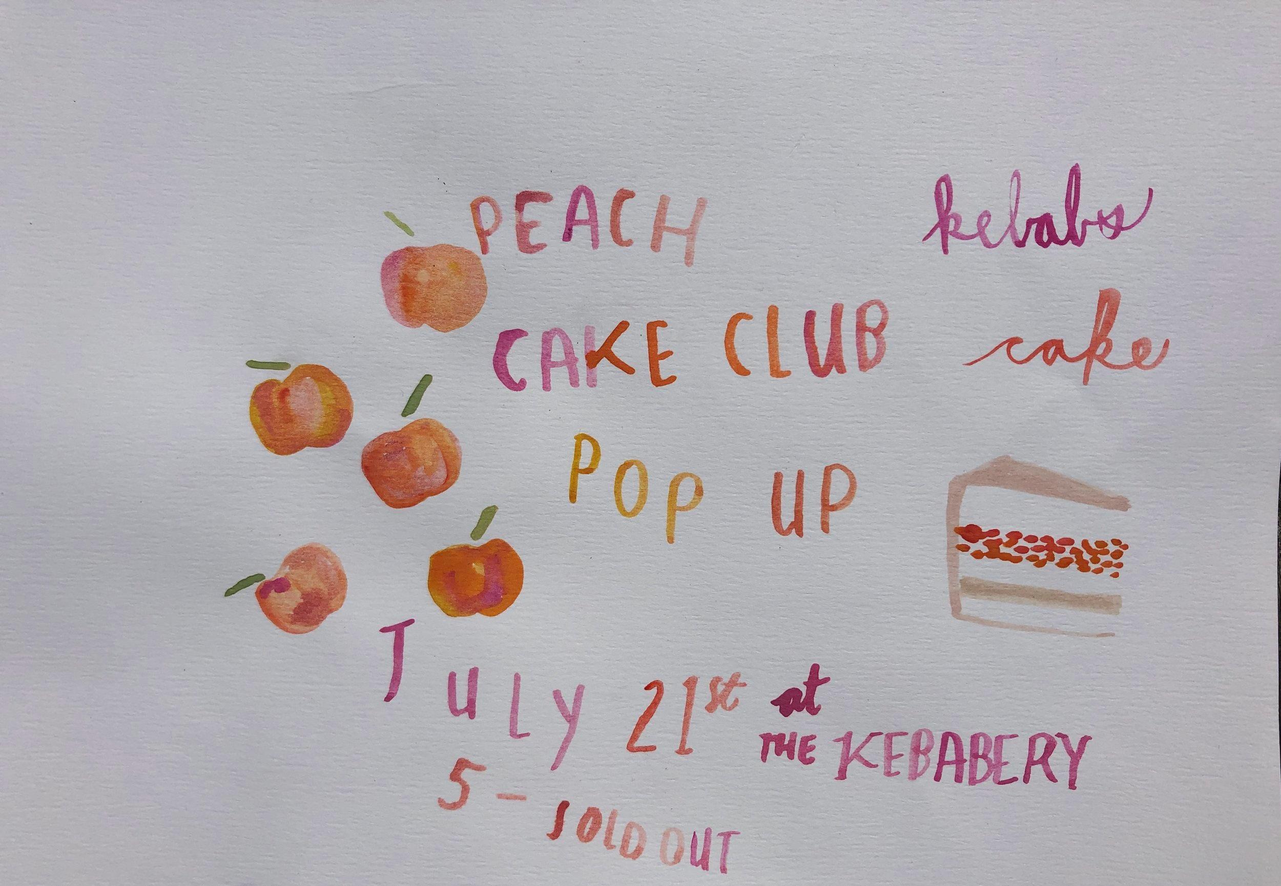 Peach Cake Club at The Kebabery