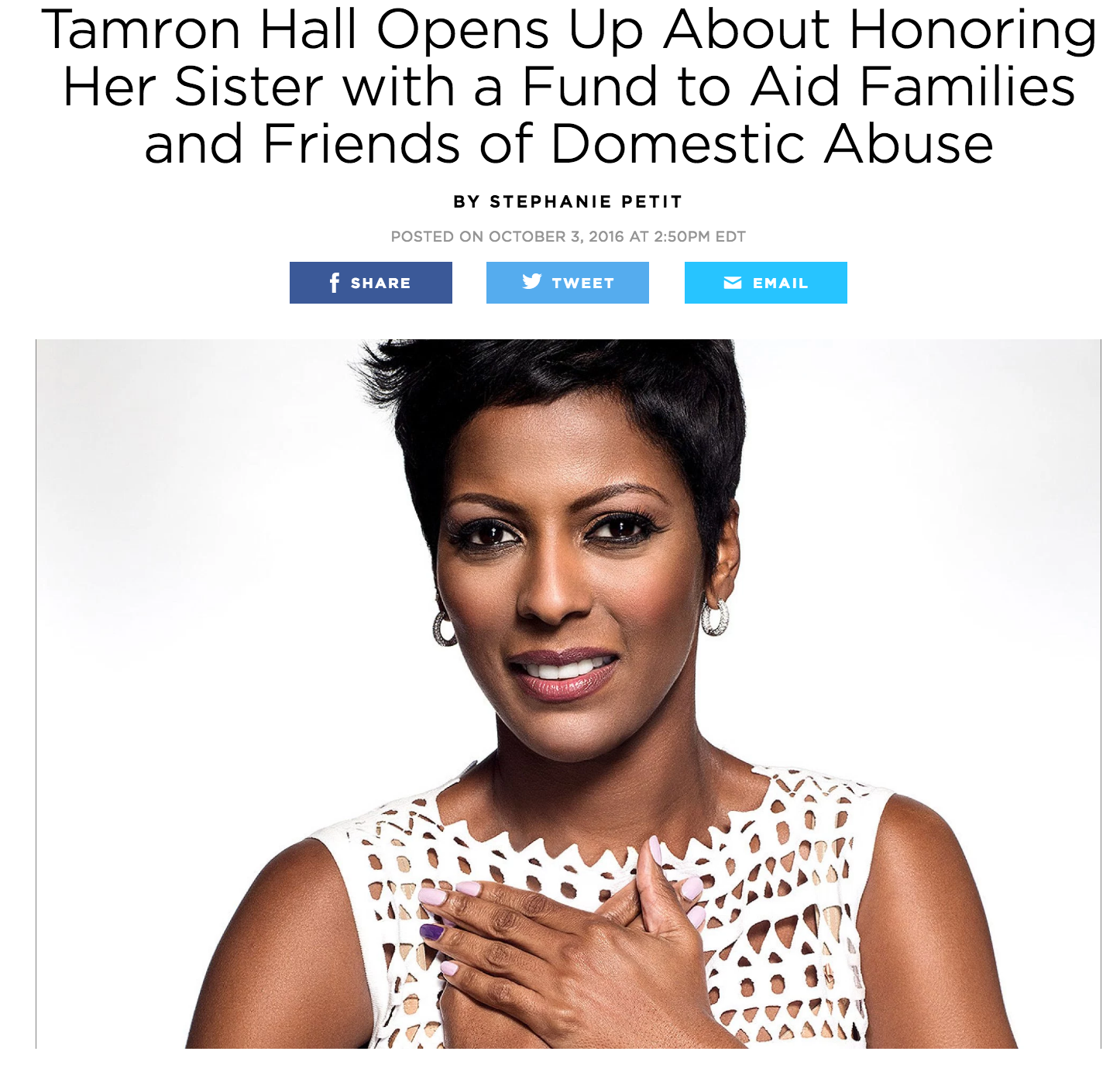 Tamron Hall for People magazine