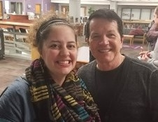 Brooke Carlson with Bill VanPatten of Tea with BVP and Keynote Speaker at the Minnesota Council on the Teaching of Languages and Cultures Annual Conference.