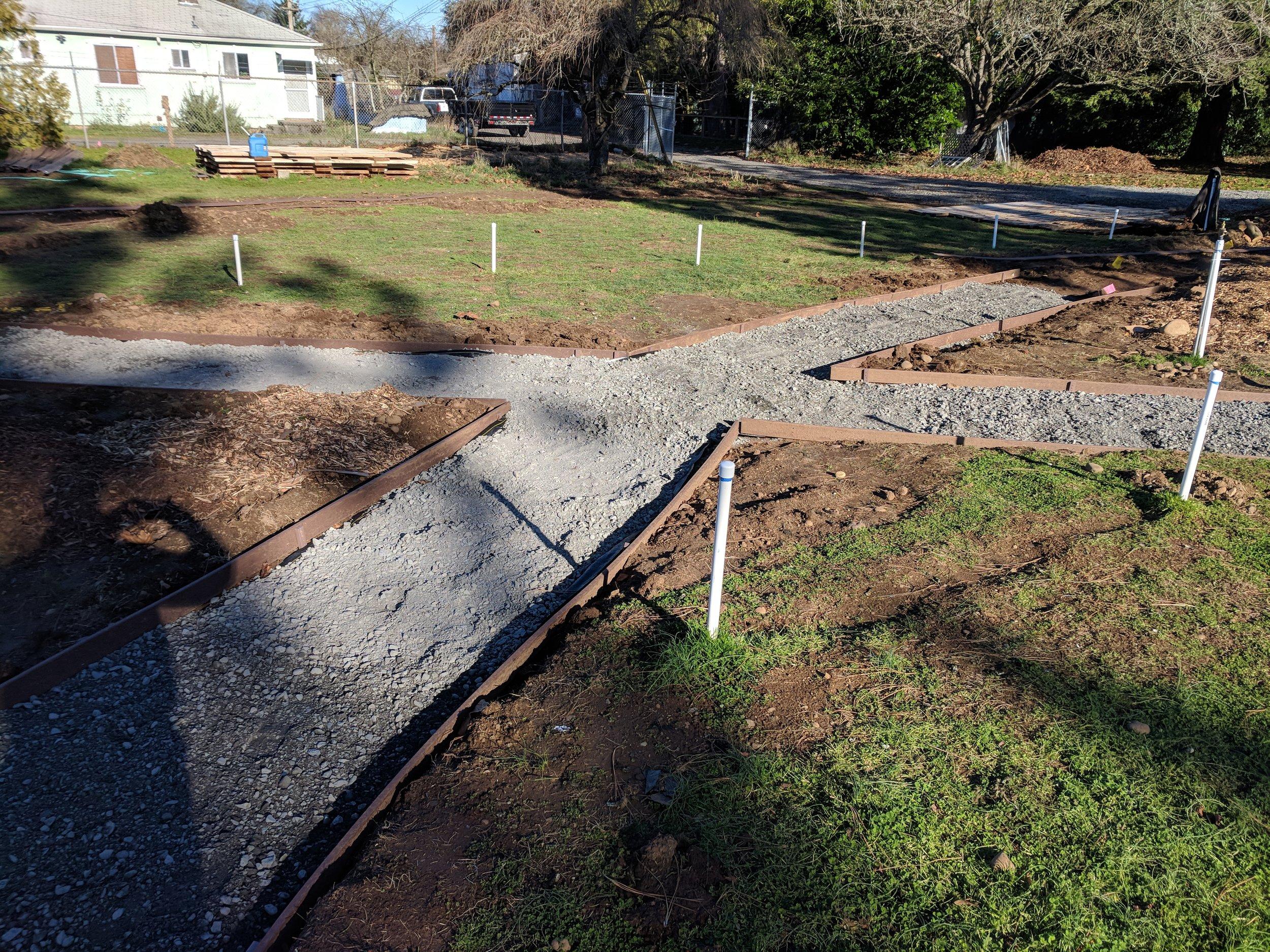 Annex paths under construction