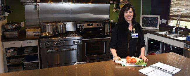 Heidi Davis, Community Teaching Kitchen, Providence Milwaukie. Photo: courtesy of Providence Health Services