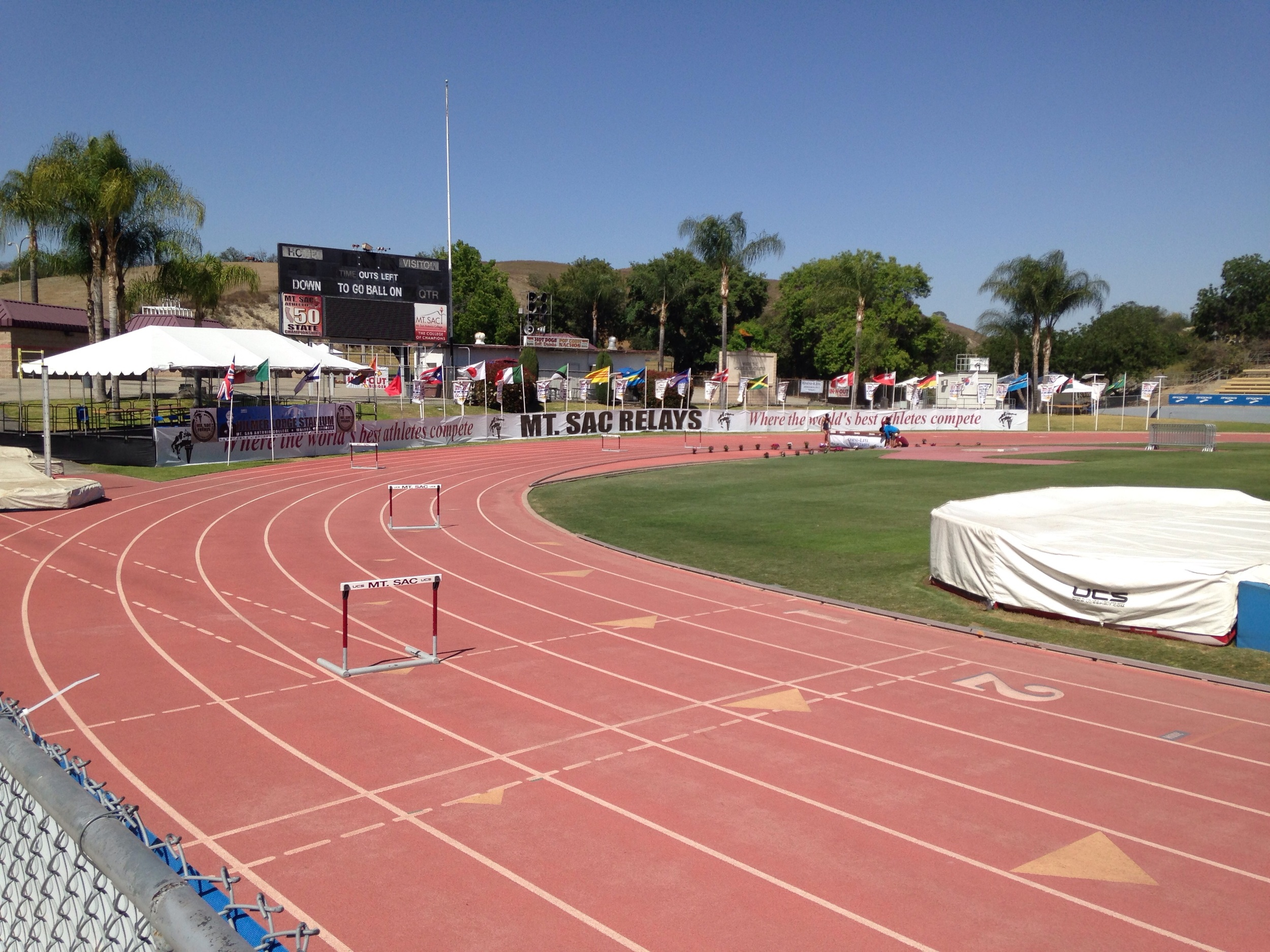 Track meet weather and big meets | This was Mt. Sac Relays.