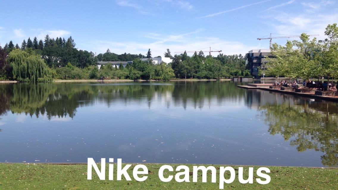 getting to walk around the nike campus was just great