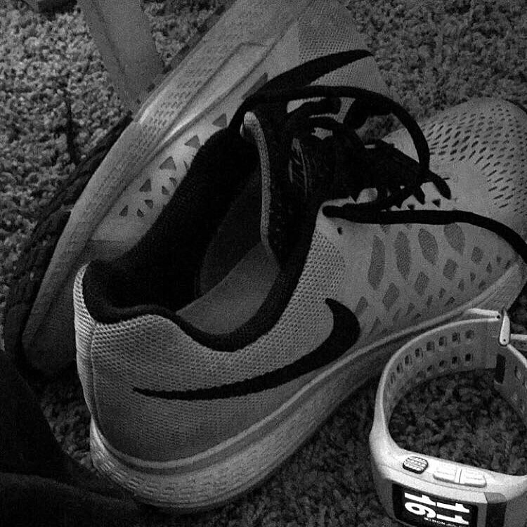 My running shoes and my watch. Two things that make me feel in complete control and confident.