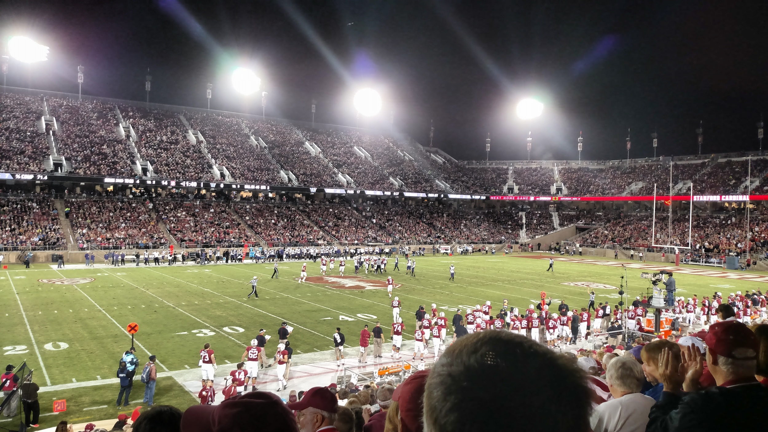Enjoyed the Stanford Homecoming game vs Washington. 1st college football game since fall of 2010.
