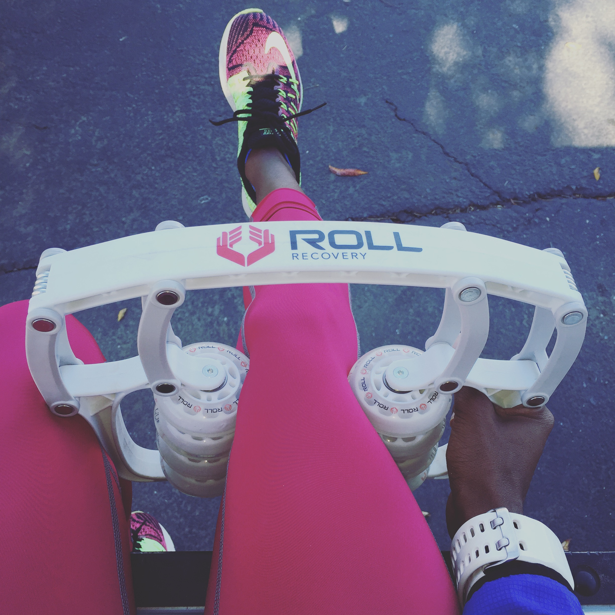 The workout day starts always with a good rolling.