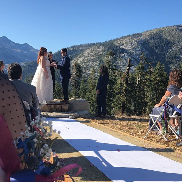 It was truly a lovely day in South Lake Tahoe yesterday & witnessing these two join together was simply an honor. Thank you for sharing your love and I wish you both nothing but never ending happiness. #locoinlove
