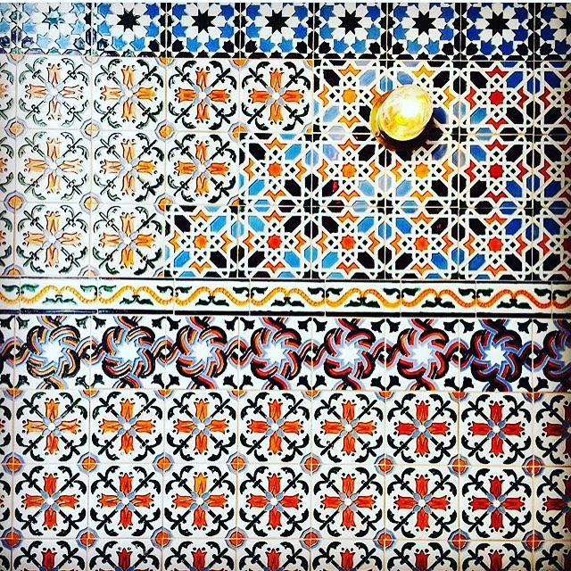 """There are very few human beings who receive the truth, complete and staggering, by instant illumination. Most of them acquire it fragment by fragment, on a small scale, by successive developments, cellularly, like a laborious mosaic."" -Anais Nin  Mosaics, we are. #mosaic #tile #art #Spanish #moorish #monday #truth #espana #anaisnin #interiordesign #tileaddiction #manupinteriors via @caballero_interiors"